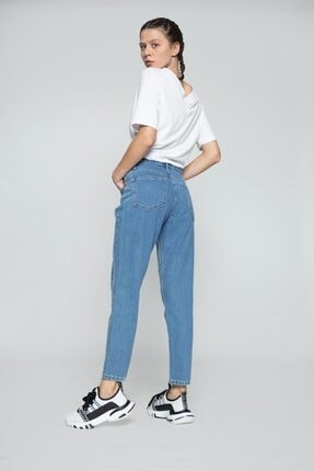 MojerHermosa Kadın Mavi Kot Pantolon 3
