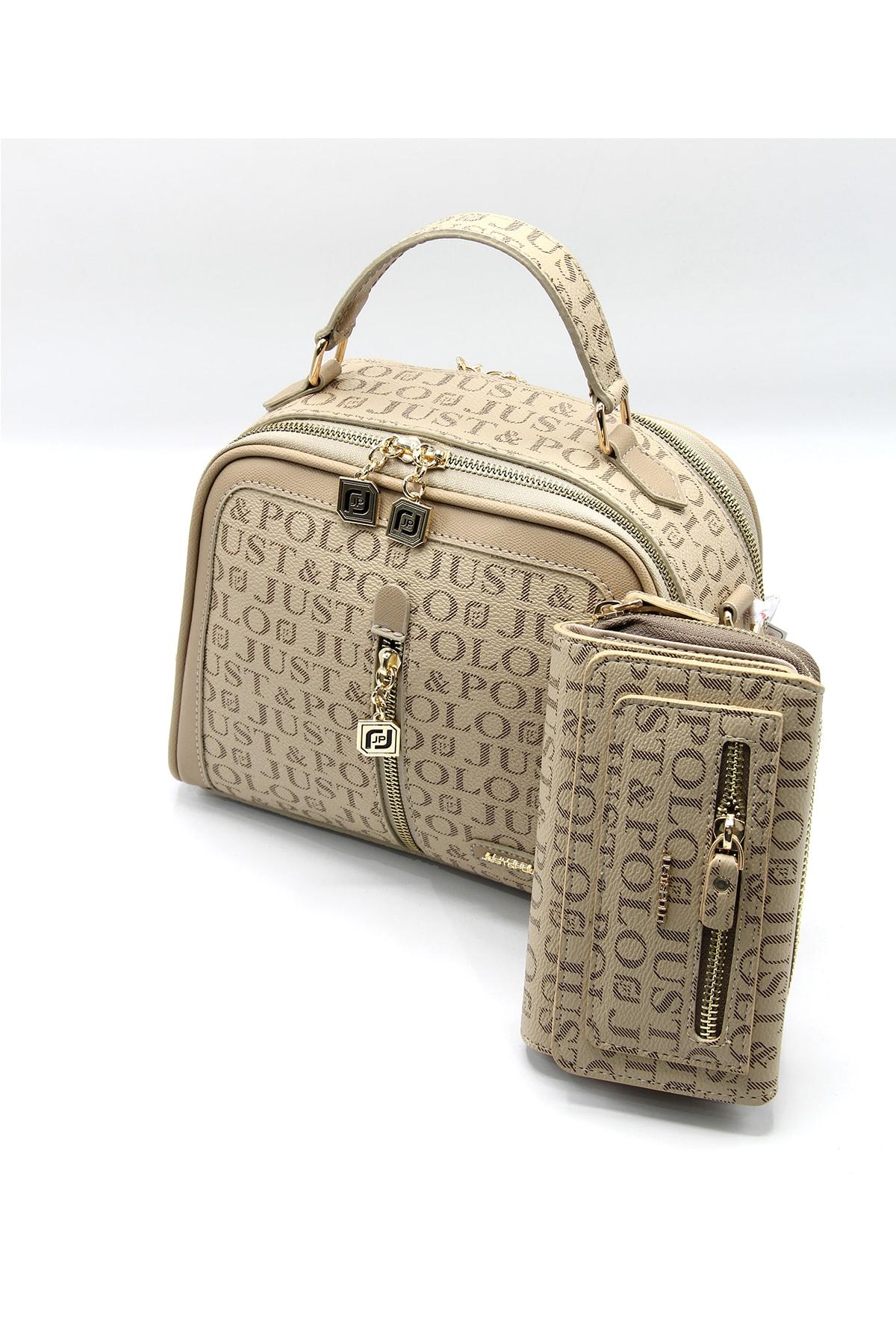 Kadın Vizon Çanta Cüzdan Kombin