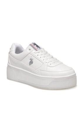 US Polo Assn MADONNA 1FX Beyaz Kadın Fashion Sneaker 100910524 0