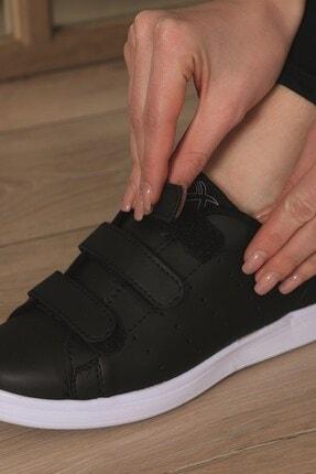 AlbiShoes Unisex Cırtlı Siyah - Beyaz Sneaker - Sbc75 2