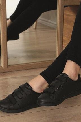 AlbiShoes Unisex Siyah  Cırtlı Sneaker  Scc75 3