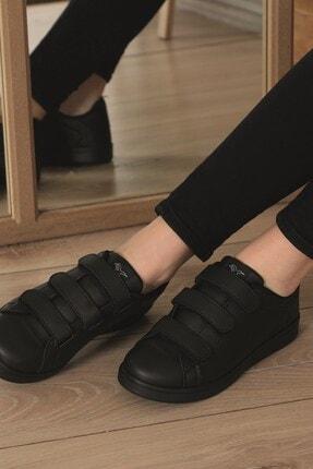 AlbiShoes Unisex Siyah  Cırtlı Sneaker  Scc75 4