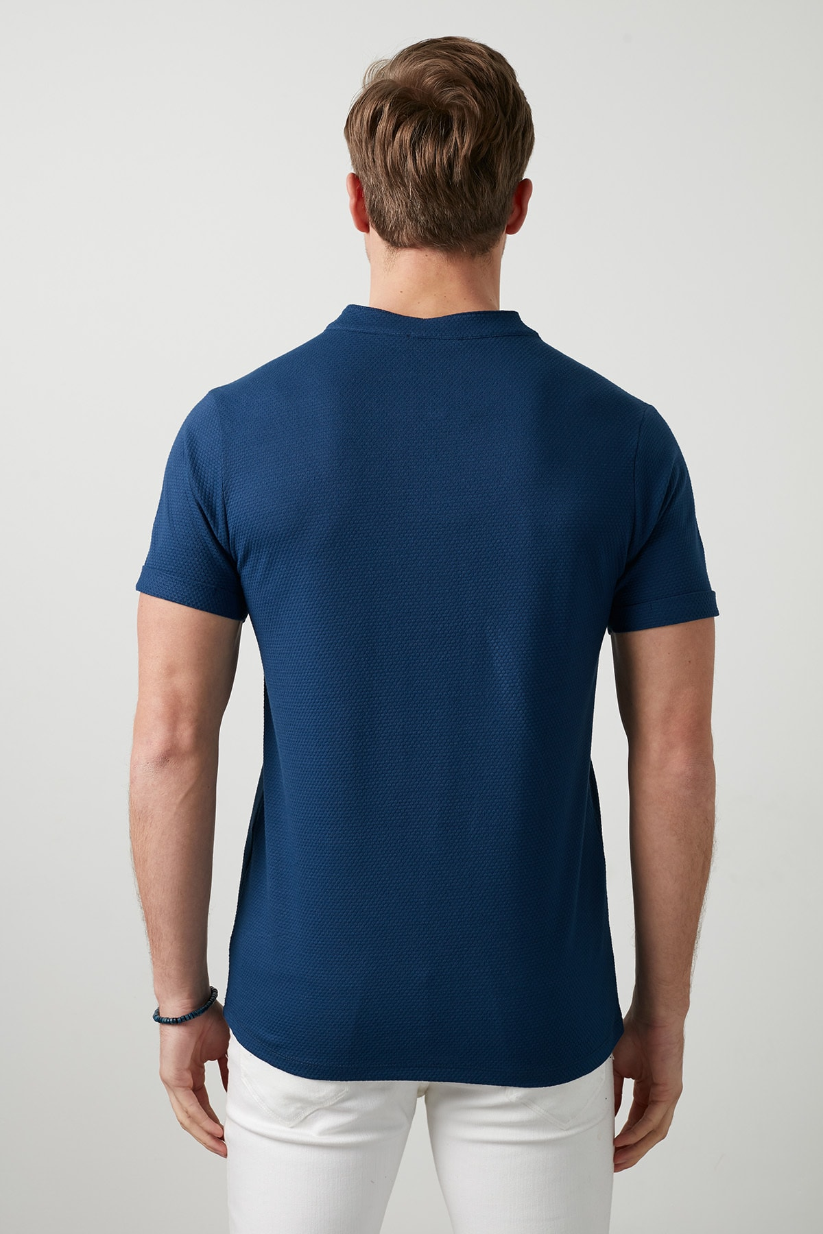 Buratti Erkek LACİVERT V Yaka Rahat Kesim Basic T Shirt CF20S214365 3