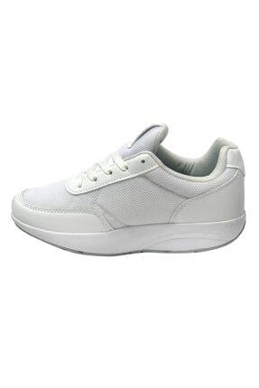 LUTTOON Kadın Beyaz Yürüyüş Ayakkabısı 1