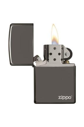 Zippo Çakmak Logo Black Ice Buz Siyahı 150zl 1