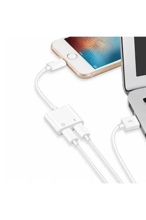 zabata 2in1 Iphone Lightning Şarj Kulaklık Dönüştürücü Çevirici Soket Çoğaltıcı Çoklayıcı 3