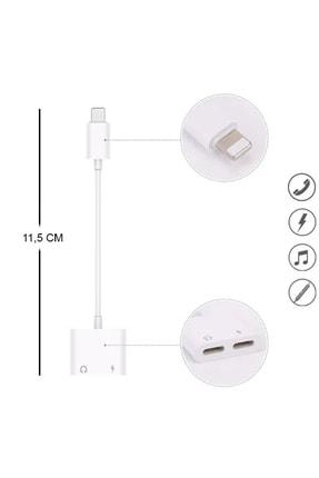 zabata 2in1 Iphone Lightning Şarj Kulaklık Dönüştürücü Çevirici Soket Çoğaltıcı Çoklayıcı 4