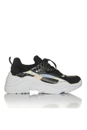 İnci Kadın Siyah Vegan Cilt/dalgıç Slip On Bağcıklı Klasik Spor Ayakkabı -i3007 0