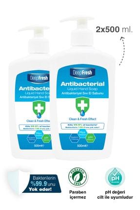Deep Fresh Antibakteriyel Sıvı Sabun 2 X 500 ml 1