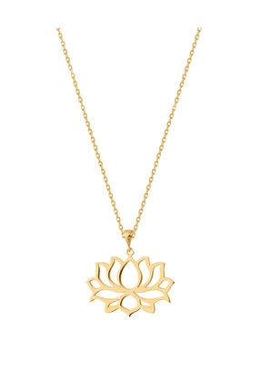 Lotus Kolyesi Gümüş Kolye Anlamlı Kolye kl190