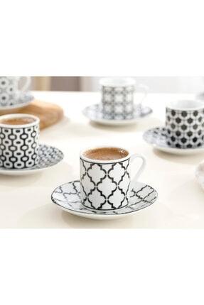 English Home Rio Porselen Kahve Fincan Takımı 80 Ml Siyah 1