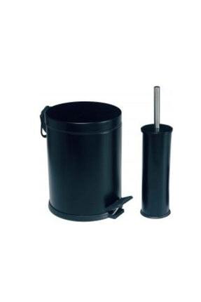 Dibanyo Banyo Seti 2'li 3 lt Çöp Kovası&klozet Fırçası Siyah 0