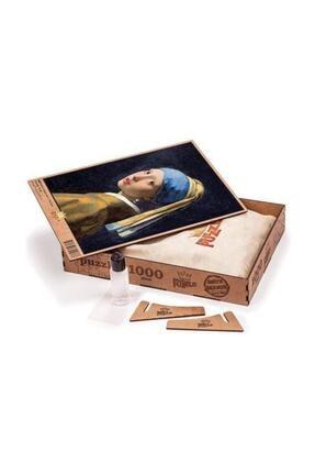 King Of Puzzle Inci Küpeli Kız Johannes Vermeer Ahşap Puzzle 1000 Parça (Kr01m) 2