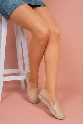 Hoba Kadın Bej Günlük Rahat Ayakkabı 0
