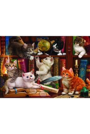 Anatolian Puzzle 2020 Yeni Koleksiyon 500 Parça Kediler Ve Kitaplar/ Kittens In The Library Kod 3618 0