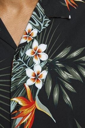 Jack & Jones Erkek Çiçek Desenli Siyah Renk Gömlek 12170678 4