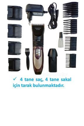 Powertec Profesyonel Saç Kesme Makinesi, Şarjlı Saç Tıraş Makinesi, Sakal Tıraş Makinesi, Tüy Alıcı Makine 2