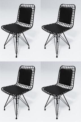 Kenzlife Knsz Kafes Tel Sandalyesi 4 Lü Mazlum Syhsyh Sırt Minderli Ofis Cafe Bahçe Mutfak 1