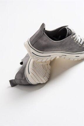 LuviShoes 1453 Gri Süet Kadın Spor Ayakkabı 1