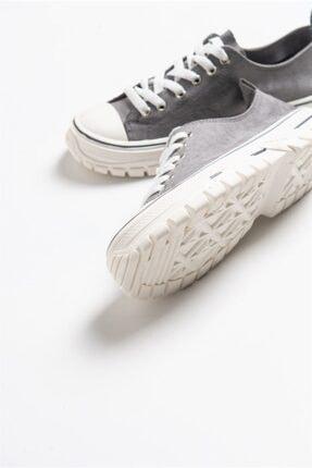 LuviShoes 1453 Gri Süet Kadın Spor Ayakkabı 4