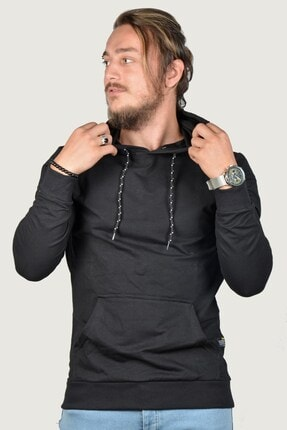 Terapi Men Erkek Kapşonlu Uzun Kollu Sweatshirt 9y-5200178-002 Siyah 0