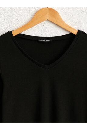 LC Waikiki Kadın Siyah  Tişört 2