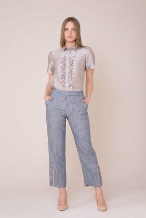 Picture of Bilek Düğme Detaylı Lacivert Pantolon