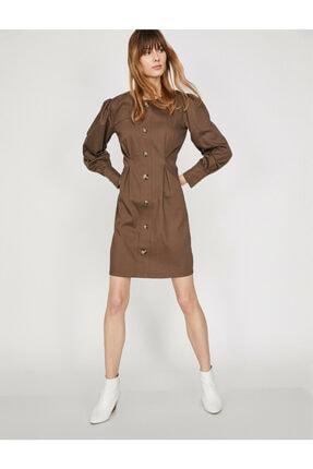 Dügme Detayli Elbise 9KAF80634FW