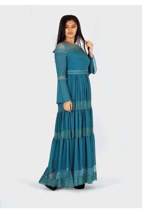rapellin Dantel Detaylı Şifon Elbise 2