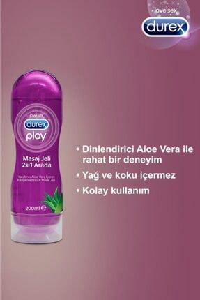 Durex Play Kayganlaştırıcı & Masaj Jeli Aloe Vera 200 ml +hassas Ylang 200 ml 2