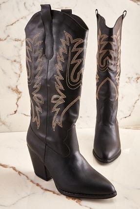 Siyah Kadın Çizme K06390530