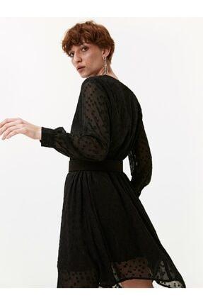 Twist Puantiye Desen Gömlek Elbise 2