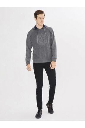 Mcl Giyim Kapüşonlu Baskılı Pamuklu Sweatshirt 1