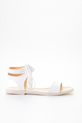 Bambi Beyaz Kadın Sandalet L0652071009 1