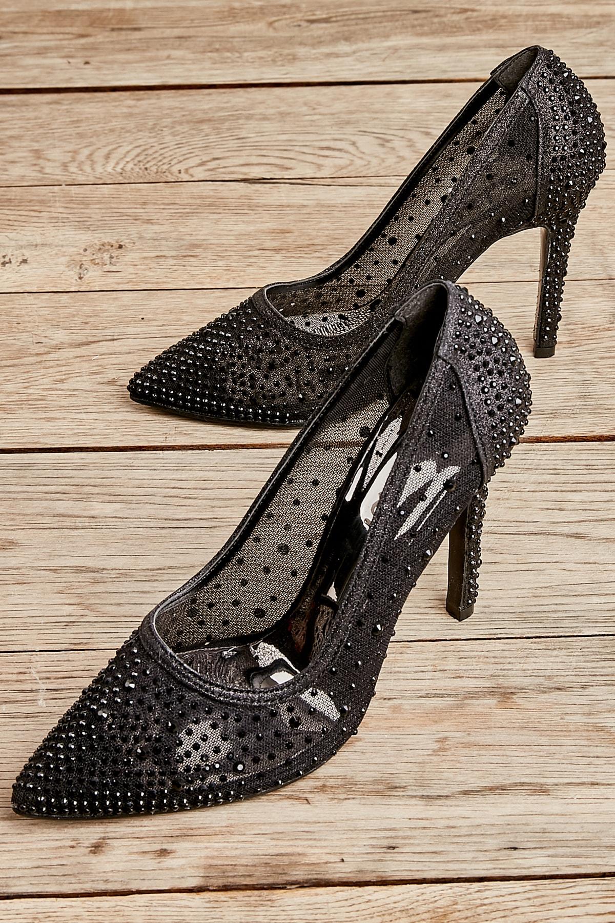 Siyah Kadın Abiye Ayakkabı L0501638087