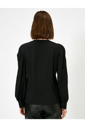 Koton V Yaka Dügme Detayli Bluz 3