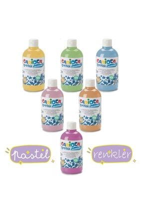 Carioca Tempera Pastel Renkler Yıkanabilir Sulu Boya Seti 6 Renk X 500 ml. 1