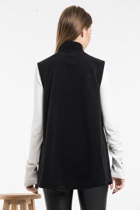 Balo Moda Kadın Siyah Softshell Yelek 2