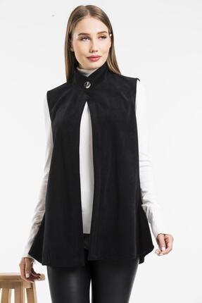 Balo Moda Kadın Siyah Softshell Yelek 3