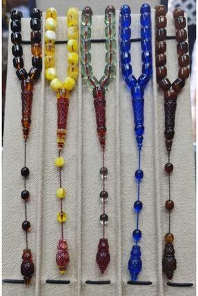 Öyküm accesory 5 Adet Imame Işlemeli Toz Kehribar 1