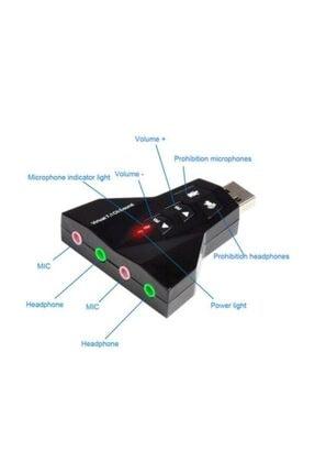 MAXGO 7.1 Usb Ses Kartı 7 Kanal Destekli Kablolu Çift Audıo Çevirici Dönüştürücü Haricı Mikrofonlu 0