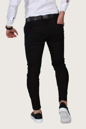 Terapi Men Erkek Keten Pantolon Likralı 7y-2200068-002 Siyah 1