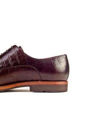 Cabani Hafif Light Taban Bağcıklı Erkek Ayakkabı Kahve Croco Deri 2