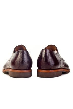 Cabani Hafif Light Taban Bağcıklı Erkek Ayakkabı Kahve Croco Deri 3