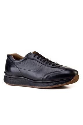 Cabani Bağcıklı - Erkek Ayakkabı Siyah Deri 0