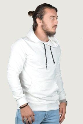 Terapi Men Erkek Kapşonlu Uzun Kollu Sweatshirt 9y-5200178-001 Beyaz 1