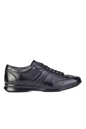 Cabani Bağcıklı Günlük Erkek Ayakkabı Siyah Naturel Floter Deri 1