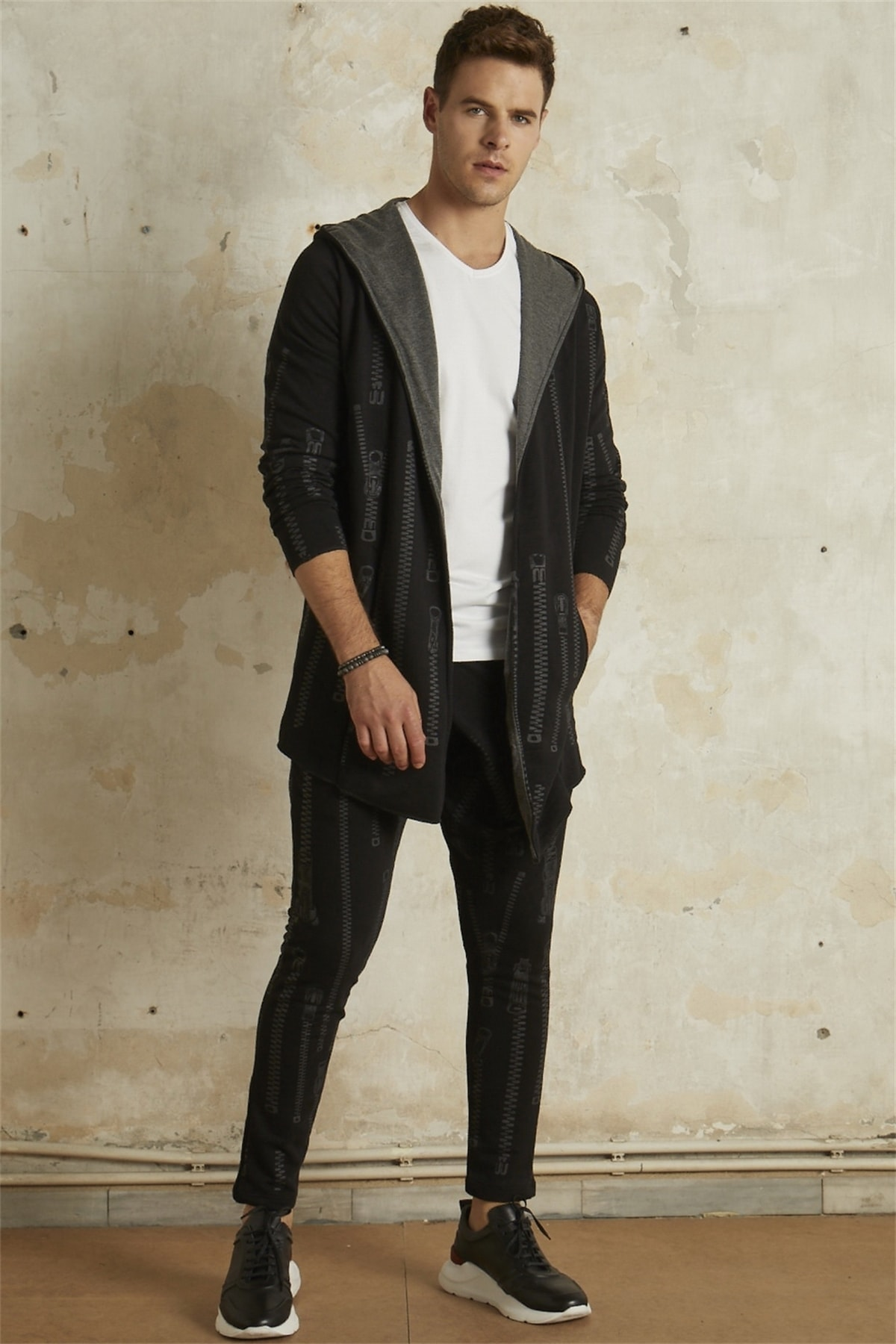 Atp 010 Slim Fit Siyah Spor Pantolon