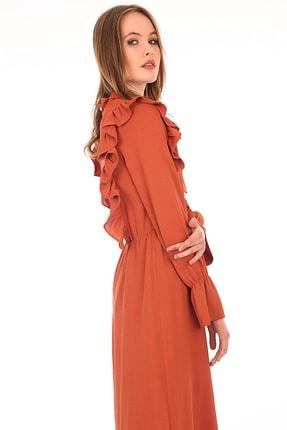 10288 Önü Fırfırlı Tesettür Elbise resmi