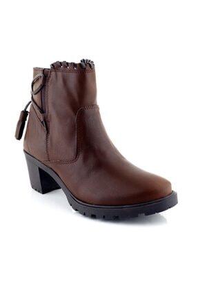 Ayakkabı Tarzım Kahverengi Kadın Bot Topuklu Ozgr 00518 0